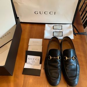 Gucci Jordaan loafers size 8.5 (Fits like 10.5)